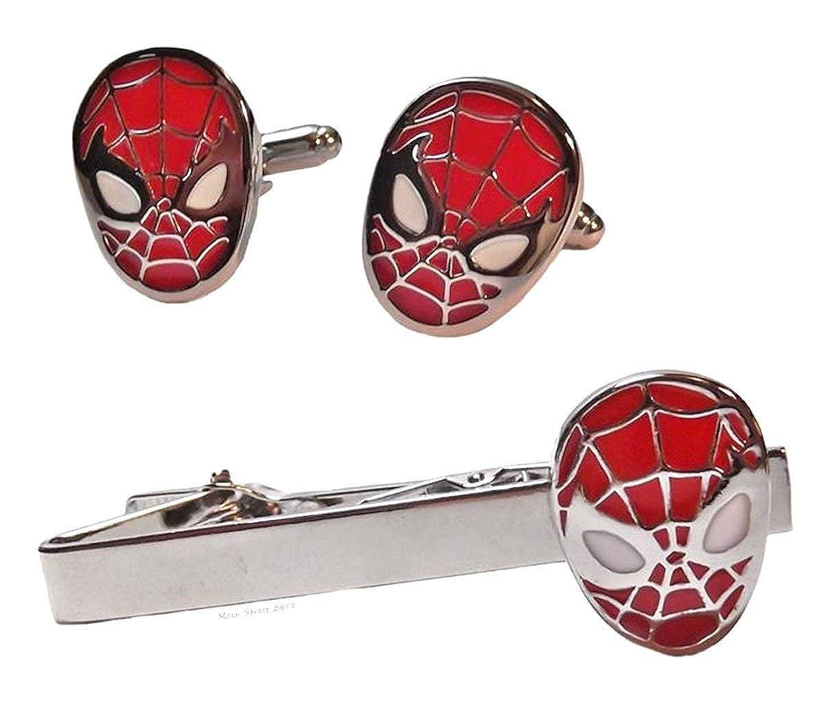 Spiderman (Pin de corbata bar Gemelos con forma de clip de corbata ...