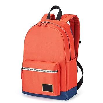 kaoling Mochila Moda para Mujeres Mochilas Viaje Ocio Mochila para NiñAs Contraste Color Adolescente Laptop Bagpack Mochilas Escolares Orange: Amazon.es: ...