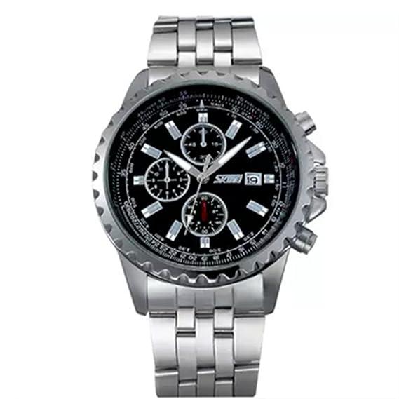 Skmei hombre reloj para hombres cuadro de regalo de reloj resistente al agua reloj de cuarzo