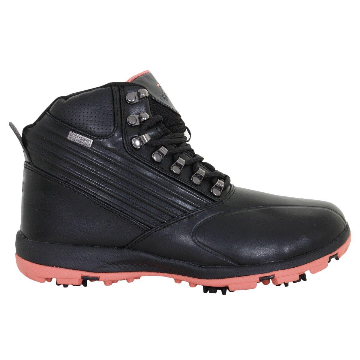 Stuburt 2017 Ladies防水耐久ゴルフ靴冬ブーツ B076H1LVPD  ブラック/コーラル 7 UK/ EUR 40 / 9 US