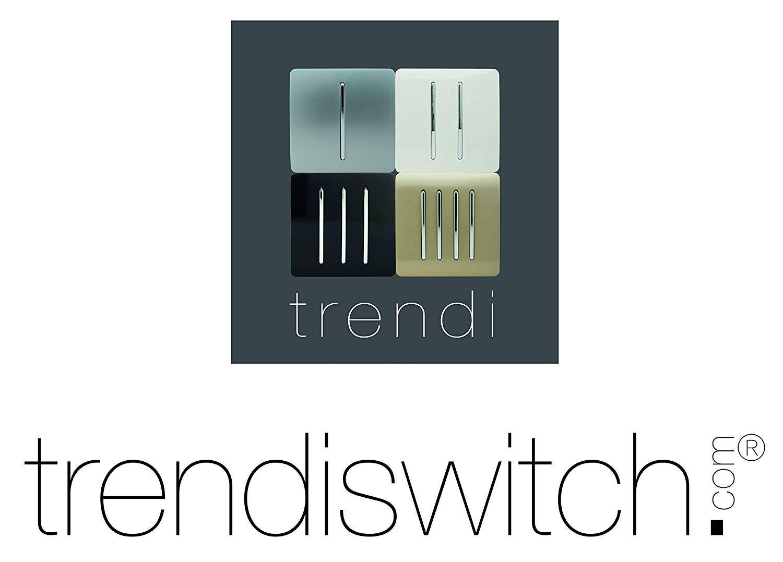 10 A 3 Canales Trendi Color Blanco Interruptor de luz art/ística Moderna 1 v/ía Brillante
