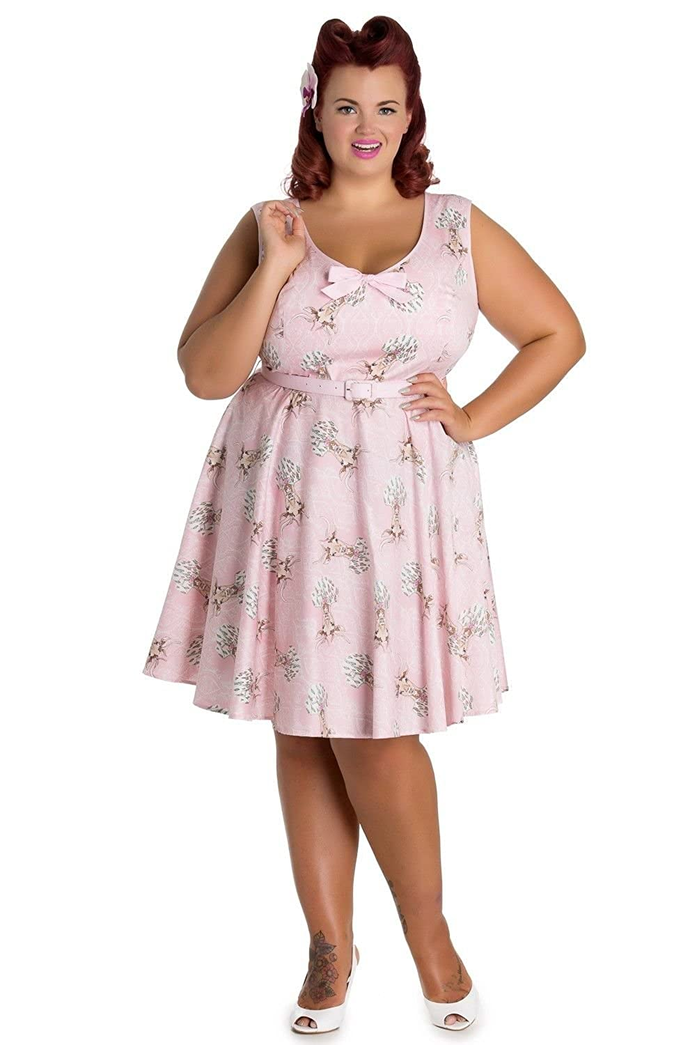 1950s Swing Dresses Hell Bunny Deery Me Short Skater Vintage Pinup Dress $29.99 AT vintagedancer.com