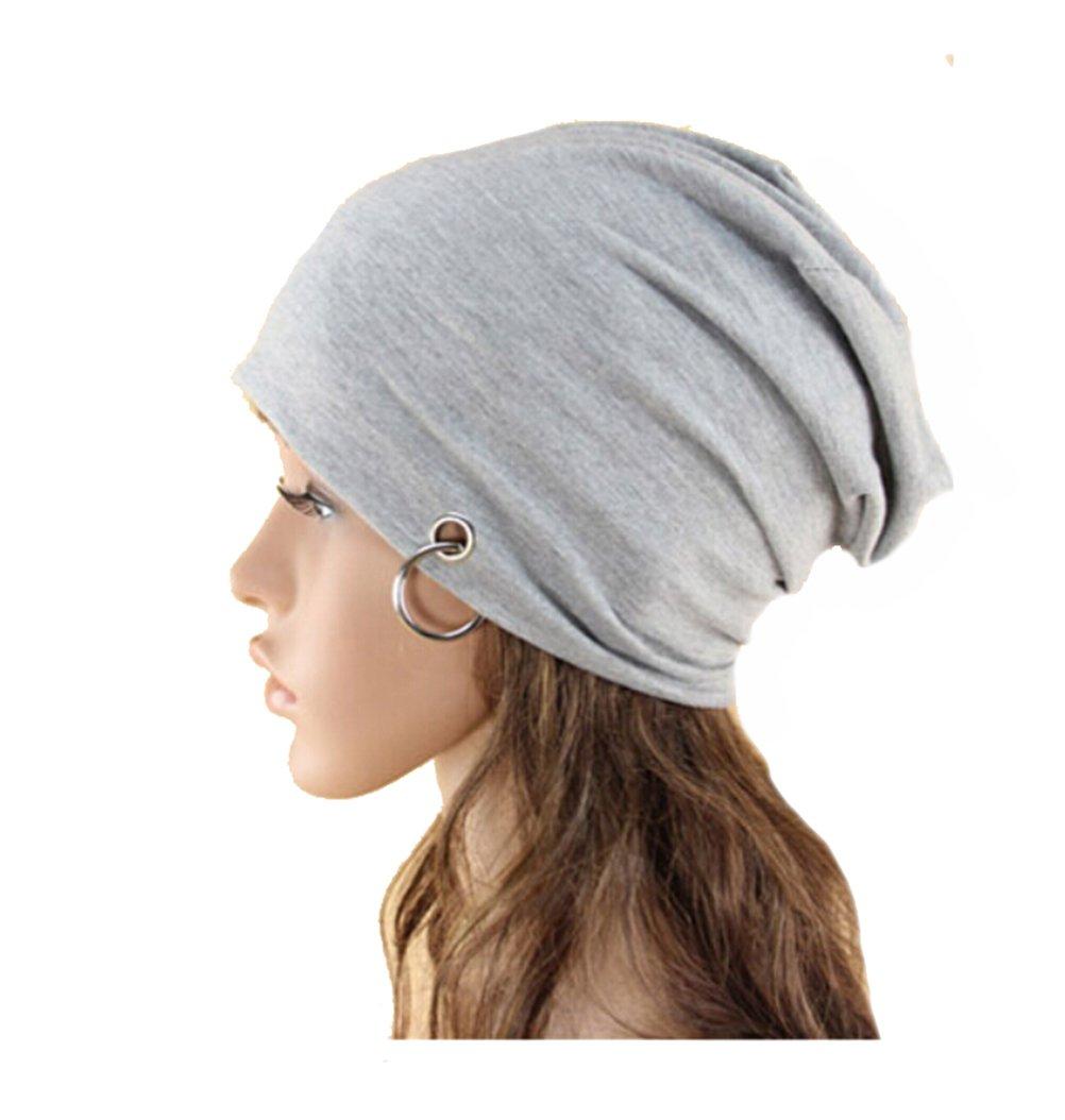 Eforstore Hot Fashion Women Men Slouchy Knit Beret Beanie Hat Cap Beanie  Thin Hip-hop Skull Cap with Ring ... 93b5a0f005