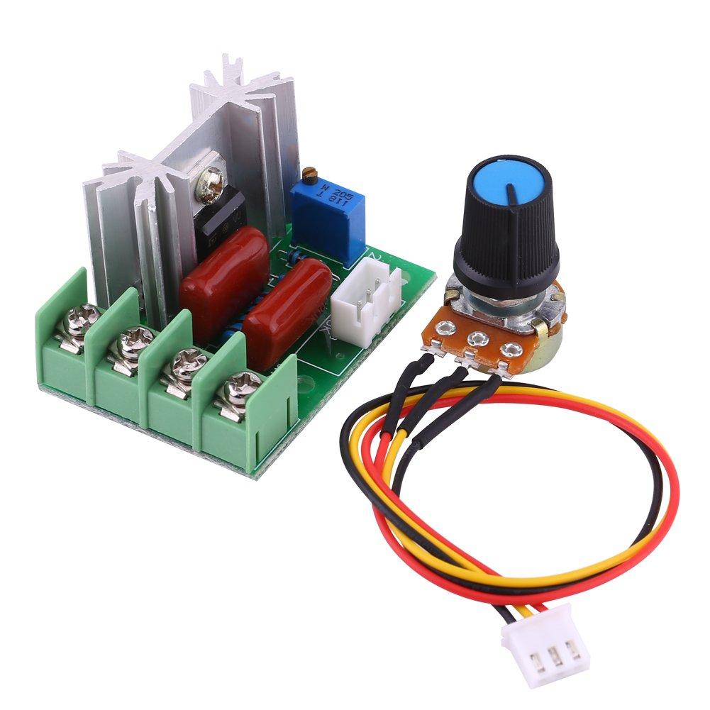 CA 50-220V 2000W SCR Regulador de Voltaje Elé ctrico Regulador de Velocidad del Motor Regulador de Luz Temperatura Walfront EXPSFN019094