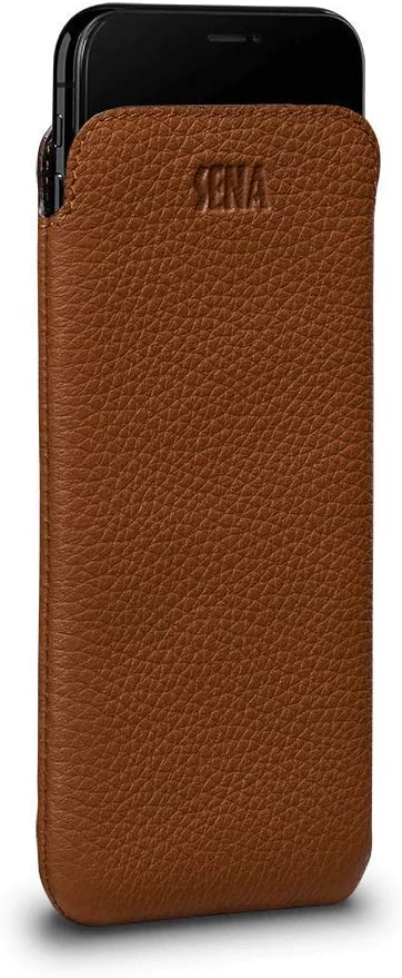 iPhone X Leather Sleeve with Button Closure  Case Full Grain Horween Leather