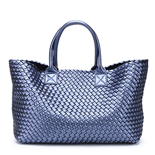 BOBOMIMI Tide Large Handbags Basket Bag Coffee Capacity Winter Shopping Bales Woven Hand Shoulder rqrBwFO