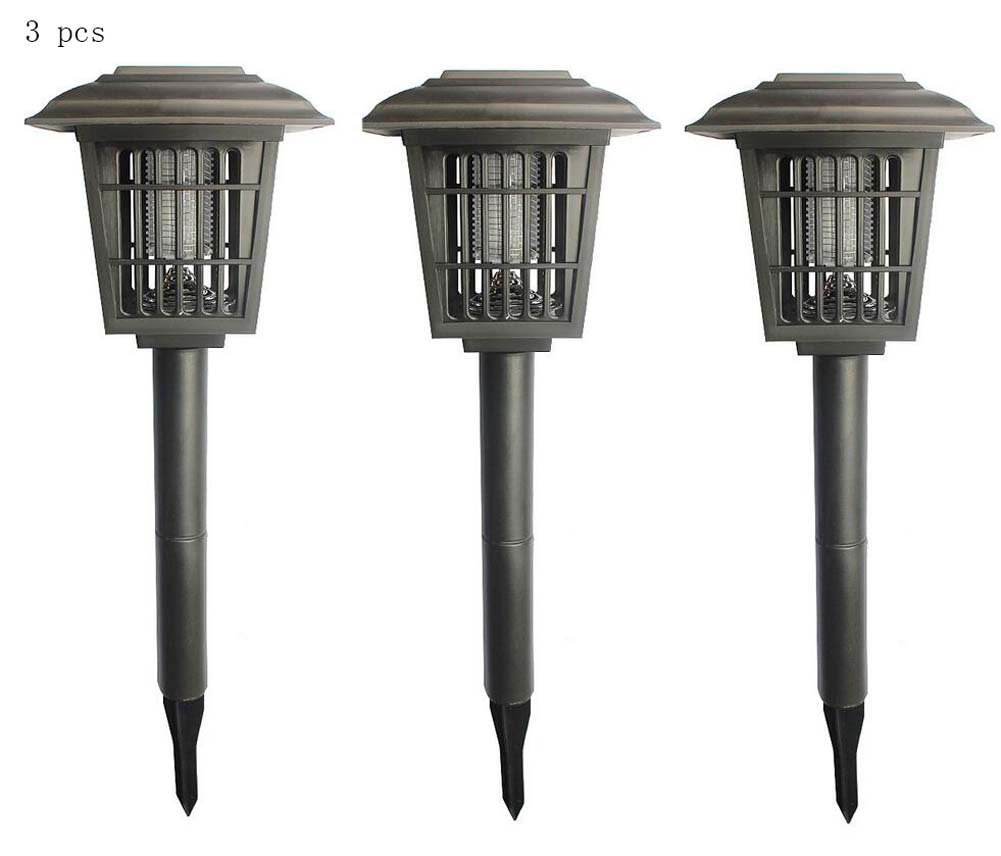 Solarinsekt-Killer-Lampe im Freien, bewegliche Moskito-Lampe, heller Regen-Beweis-Moskito-Kontrolle / Wanzen-Zapper-Licht, fliegt Moskito-Mörder - Doppelfunktion - Insekten-Mörder u. Garten-Licht kombiniert