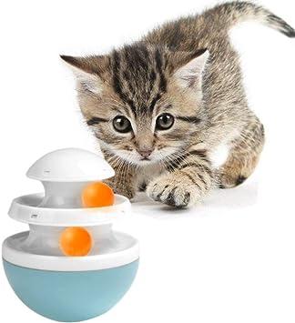 Wodondog Gato Vaso de Juguete, 2 Capas Juegos Juguete para Gato Perro Mascotas: Amazon.es: Productos para mascotas