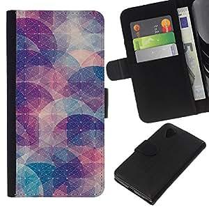 All Phone Most Case / Oferta Especial Cáscara Funda de cuero Monedero Cubierta de proteccion Caso / Wallet Case for LG Nexus 5 D820 D821 // Abstract Shape Pastel Pattern