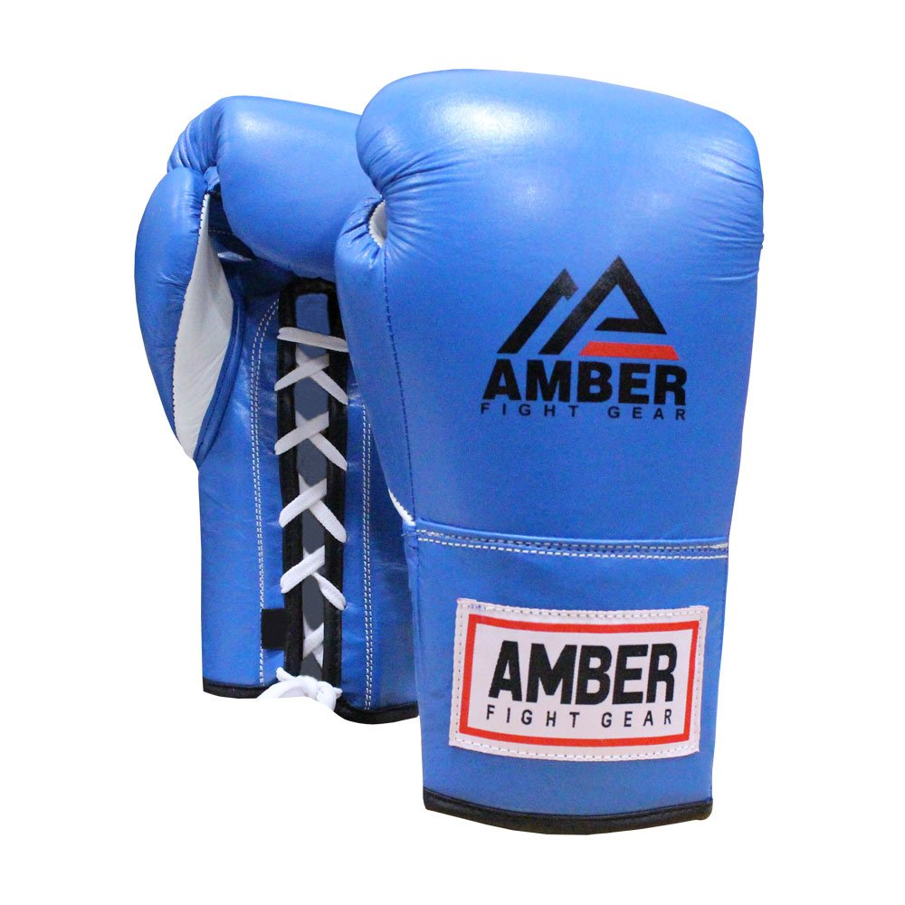 アンバースポーツ用品Professional Fight Gloves ブルー 12-Ounce