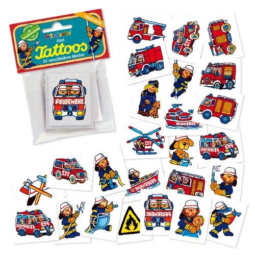 Lutz Mauder 47301 Mini-Tattoo-Set Feuerwehr, 24-tlg.