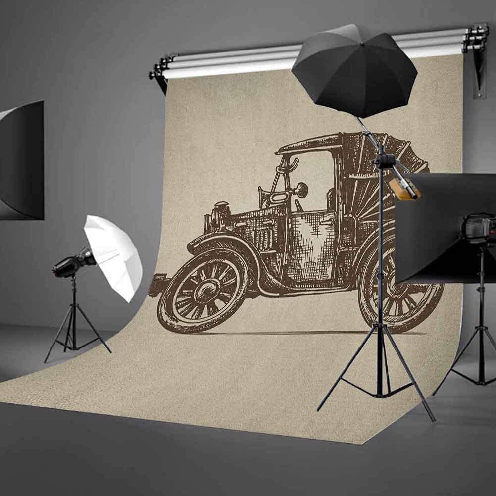 7x10 FT Vinyl Photography Background Backdrops,Film Festival Grungy Round Stamp with an Antique Projection Camera Silhouette Background for Photo Backdrop Studio Props Photo Backdrop Wall