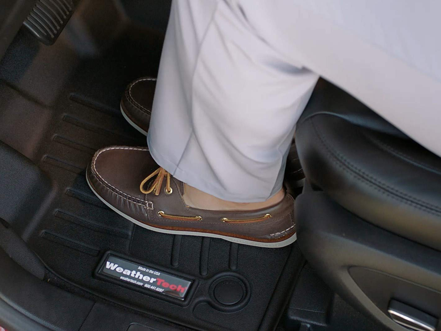 Tan 450772 WeatherTech Custom Fit Rear FloorLiner for Lexus LX470