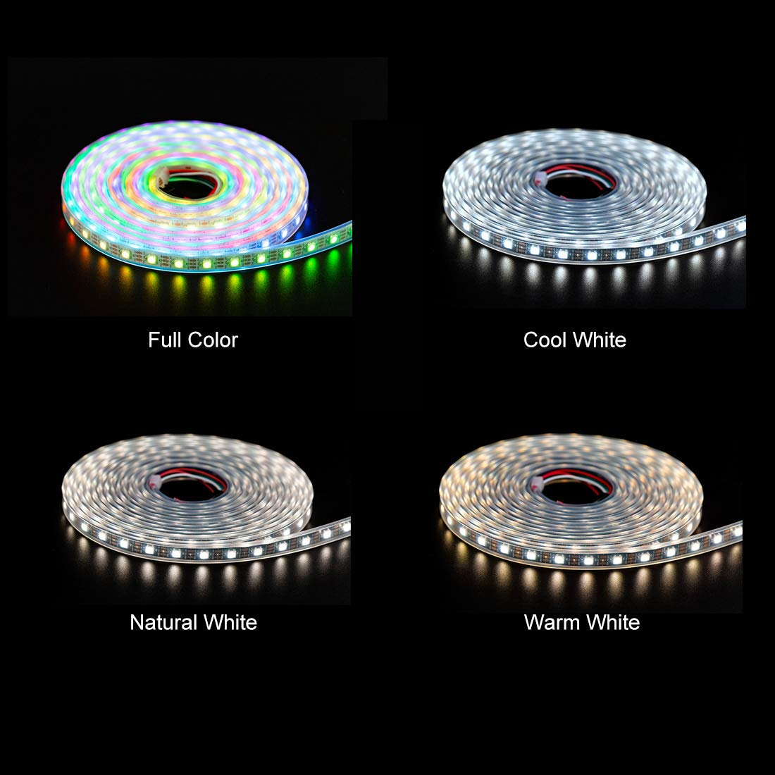 amazon com btf lighting rgbw rgbnw natural white sk6812 similar ws2812b 16 4ft 5m 60leds pixels m individually addressable flexible 4 color in 1 led