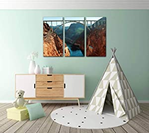 glen bridge canyon dam colorado river, hoover dam nevada usa Print Painting 3 Panel Home Decoration Paintings Wall Art Framework Canvas Prints Gallery for Living Room Wall Poster Hang Framed