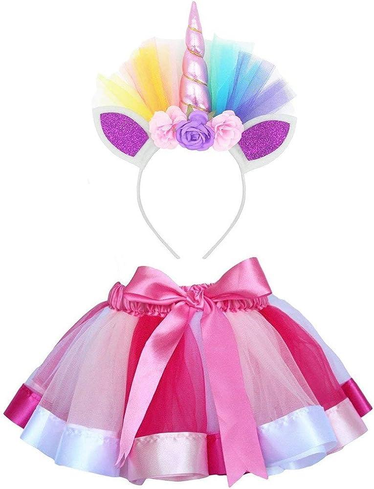 Cinnamou Conjuntos de Unicornio Niña Falda Tutu Princesa Flor ...