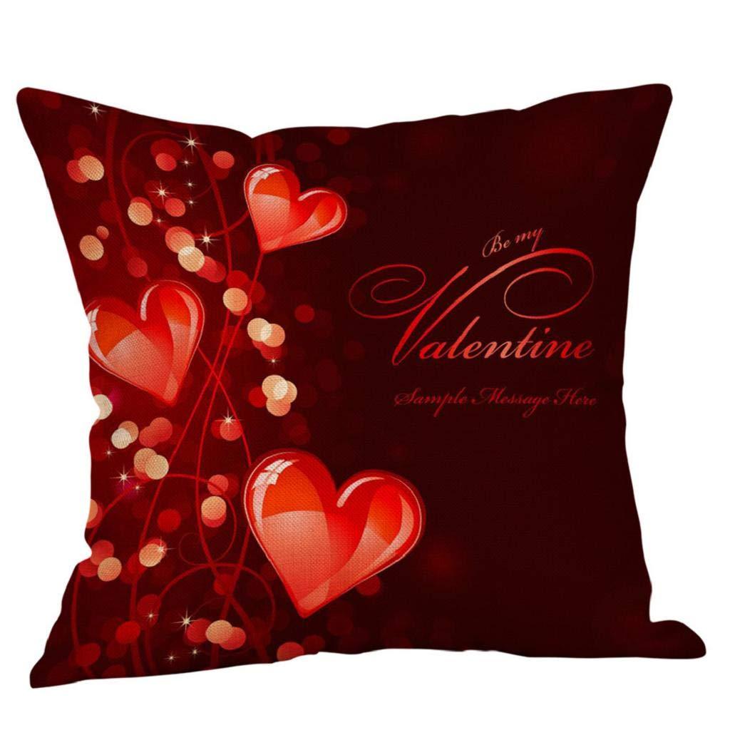Fundas de Cojines,SHOBDW Regalo de San Valentin Fundas de ...