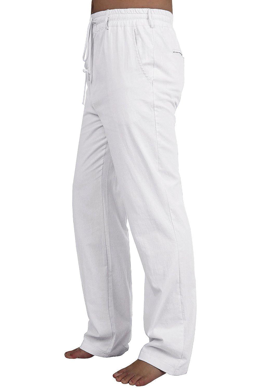 S-3XL Imily Bela Mens Casual Performance Slacks Drawstring Straight Pant with Pockets