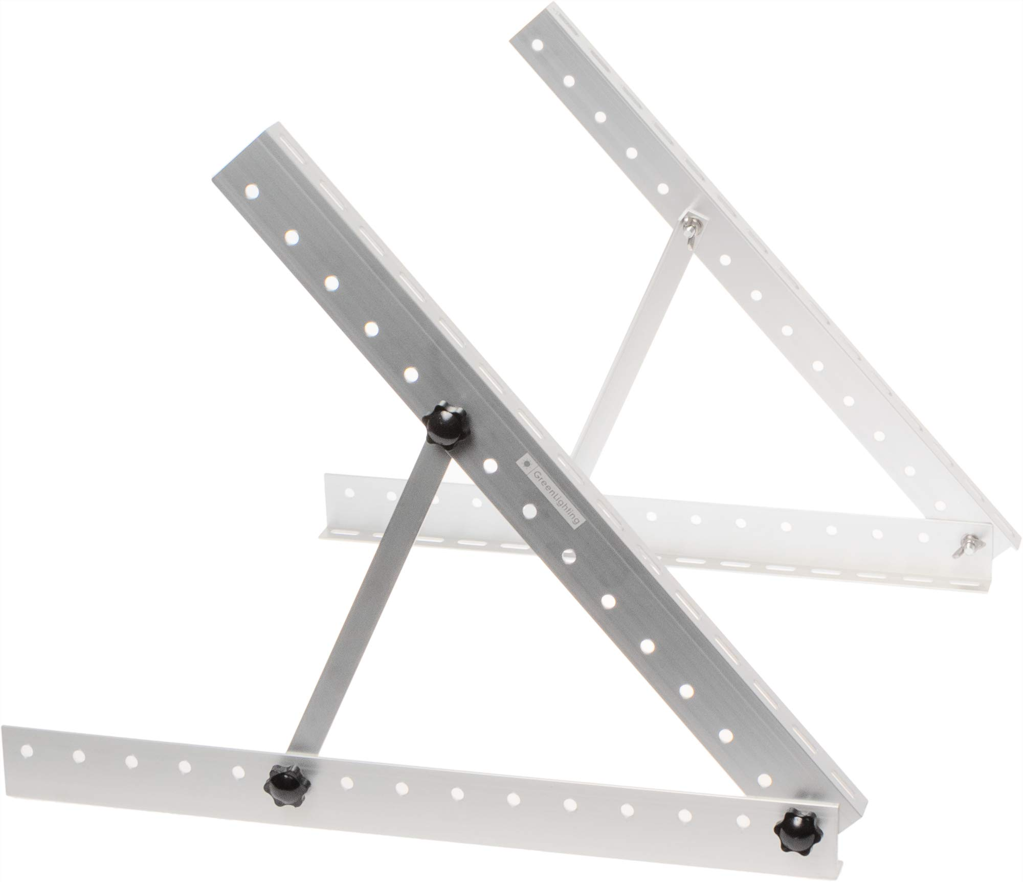 GreenLighting Aluminum Solar Panel Mounting Rack Bracket - 22 Inch Heavy Duty Adjustable Mount Kit for RV, Boat, Motorhome, Camping - 50lb Capacity by GreenLighting