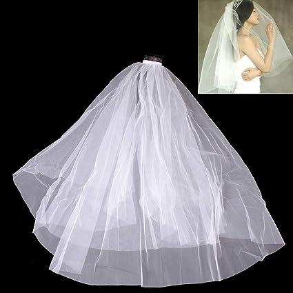 Diy Wedding Veil.Amazon Com Party Diy Decorations 60 80cm Short Women Veil With