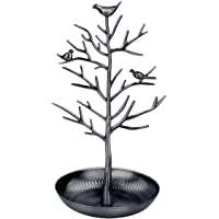 Tinksky Jewelry Tree Display Stand Holder Hanging Organizer for Earring Necklace Ring(Black)