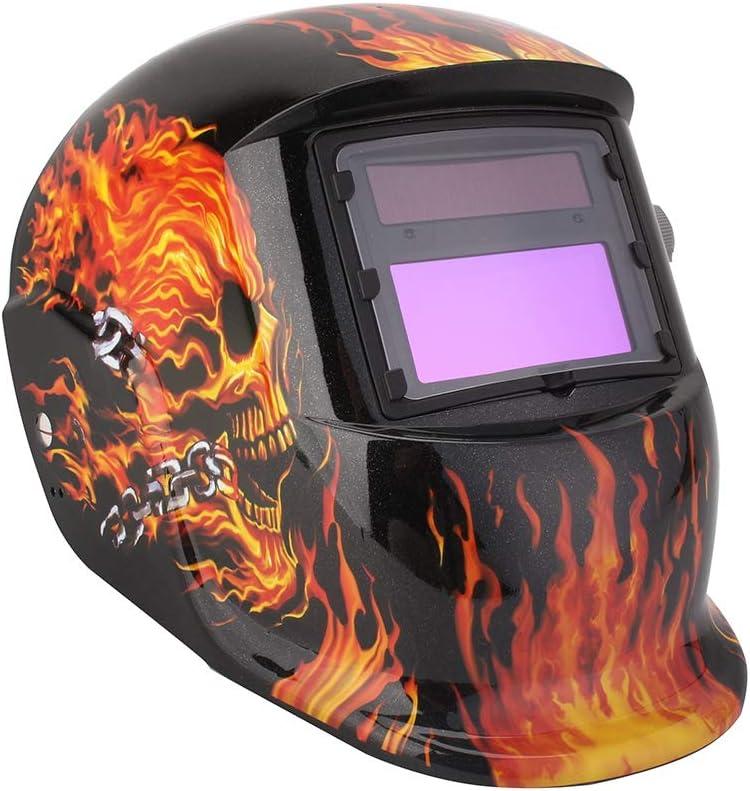 Casco de soldadura, máscara de soldadura solar con protección UV DIN 9-13 ajuste libre máscara de soldadura escudo de soldadura escudo de soldadura solar casco protector contra chispas, radiación