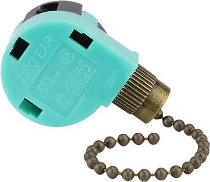 ZE-268S6 Zing Ear - Ventilador de techo con interruptor de 3 ...