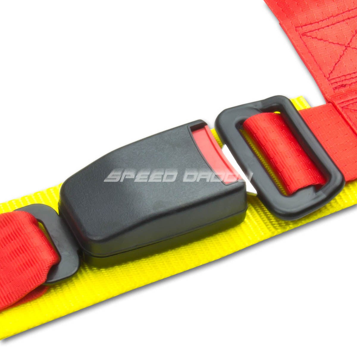 Universal Red Nylon 4-Point Racing Seat Belt /& Buckle Pack of 1