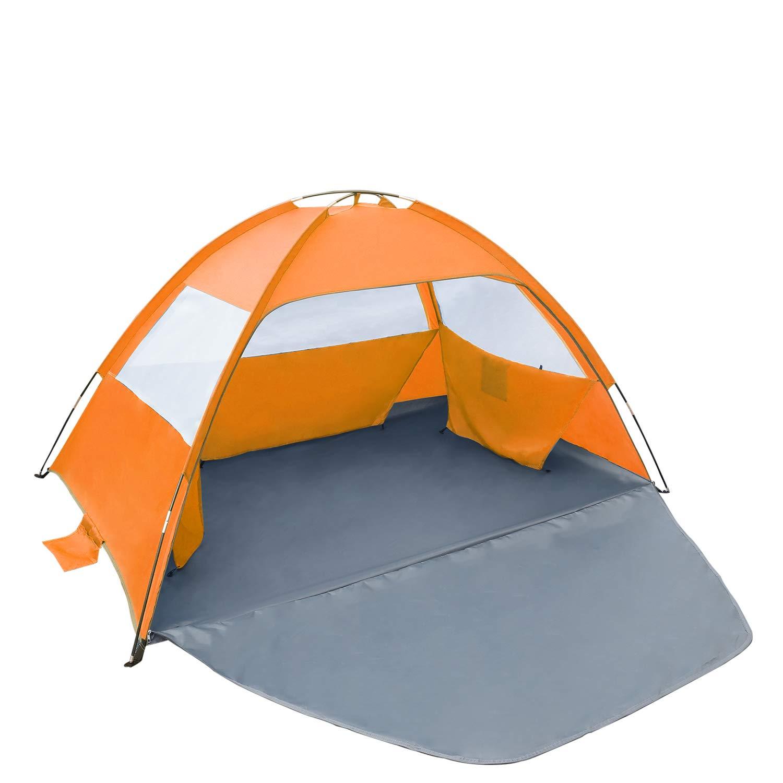 Gorich [2019 New Beach Tent, UV Sun Shelter Lightweight Beach Sun Shade Canopy Cabana Beach Tents Fit 3-4 Person by Gorich
