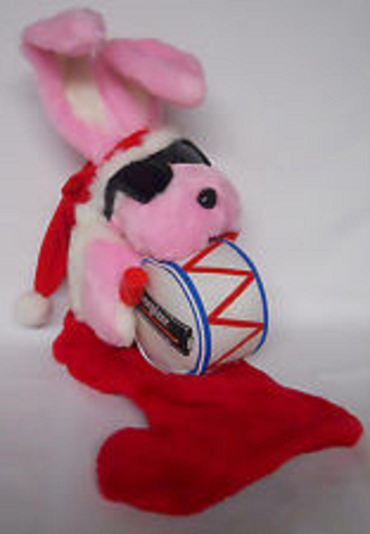 Energizer Bunny Rabbit Xmas Stocking Large Plush 1993 Promo Sunglasses Drum