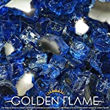 Golden Flame 10-Pound Fire Glass 1/2-Inch Caribbean