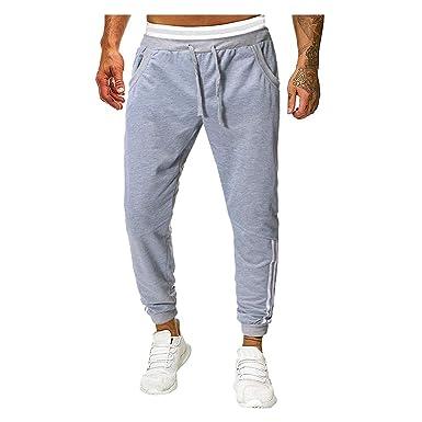 FRAUIT Pantalones para Hombre Chándal de Pantalones Color Sólido ...