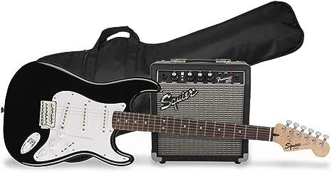Fender Squier Stratocaster SSS Pack 10G BLK - Kit de guitarra eléctrica con amplificador y accesorios: Amazon.es: Instrumentos musicales
