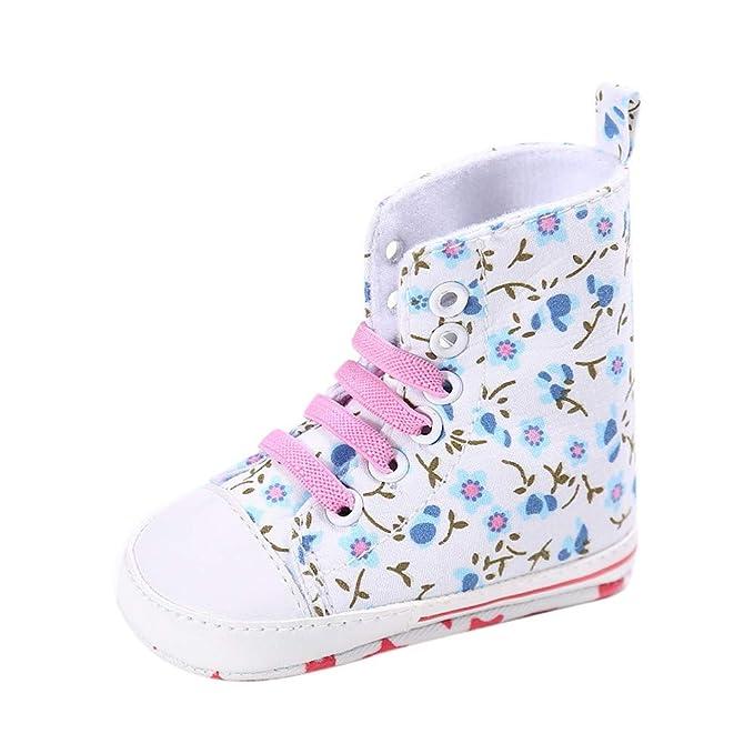 ee5dce1fa SamMoSon Ropa para bebés niño Primeros Zapatos para niñas Bebé Niña Zapatos  De Lona Zapatos En Forma De Corazón Zapatillas Antideslizantes Parte  Inferior ...