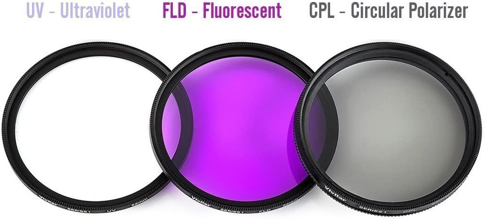 MicroFiber Cleaning Cloth 77mm Multi-Coated 3 Piece Filter Kit UV-CPL-FLD for Canon EF-S 17-55mm f//2.8 IS USM Lens