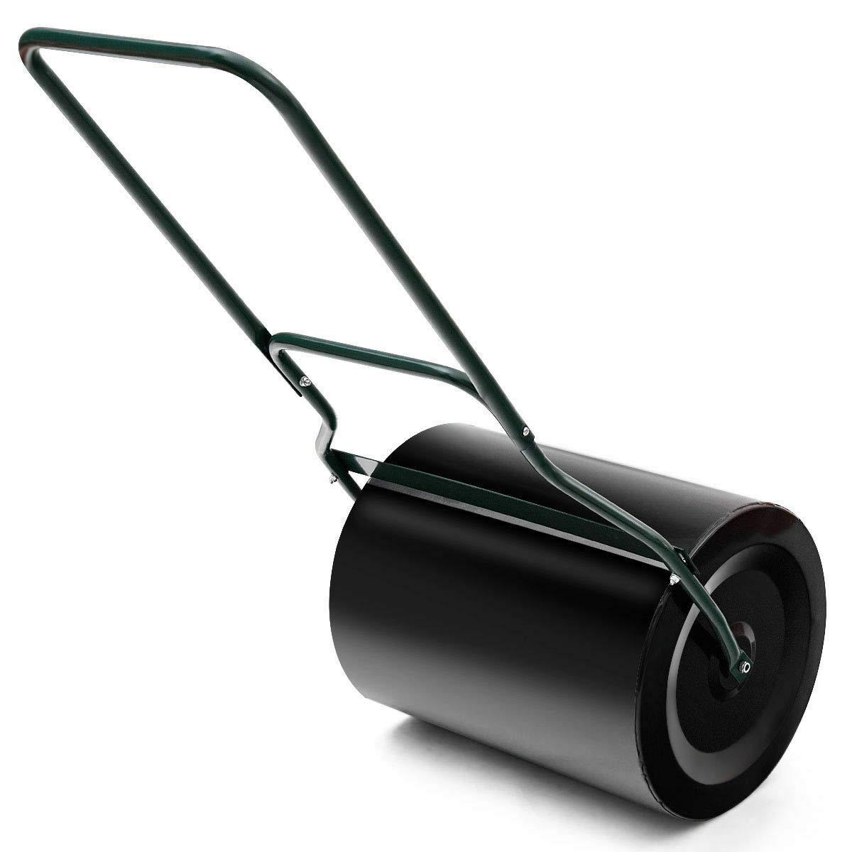 TNPSHOP 16''x 19.5'' Heavy Duty Poly Push Tow Lawn Roller Poly Roller Black
