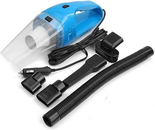 Limpiador de Coches Hoover Portátil Vacuum Cleaner Coche Portátil De Mano De Vacío Aspiradora En Húmedo Y En Seco Limpiador De Coches Coche Pequeño Aspirador (Color : Azul, tamaño : Un tamaño):