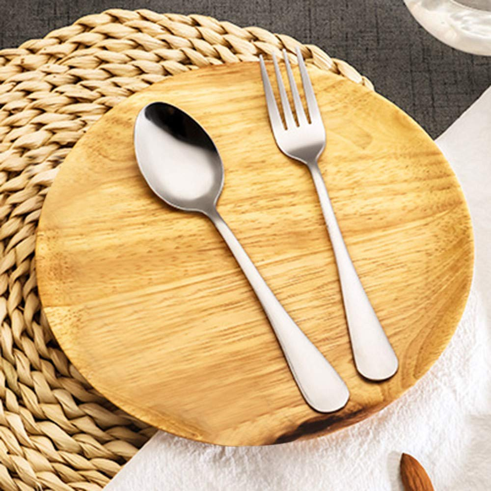 Quaanti Flatware Set 2Pcs Fork and Spoon Set,Portable Travel Cutlery Set with Case,Travel Silverware Utensils Flatware Set Ideal for Travel,Lunch Box and Camping for Kids Adults