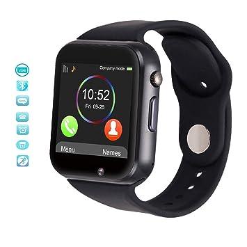 Smartwatch con Tarjeta TF / SIM,Reloj Inteligente 1.54 Pulgadas con Cámara,Monitor de Sueño,Cámara Remota etc,Pulsera Inteligente para Huawei,Doogee,Samsung ...