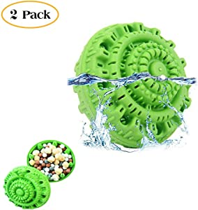 2 Pack Wash Laundry Ball Reusable Eco-Friendly Washer Machine Laundry Balls