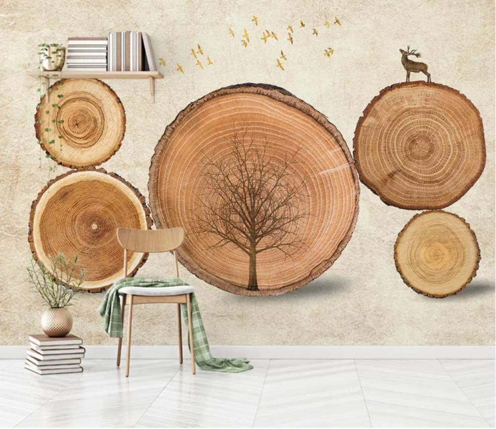 Fotomurales Papel Pintado No Tejido Anillo de árbol Decoración De Pared Decorativos Murales Diseno Fotográfico Salon Elegante Moderno Fine Decor 350cm x 256cm