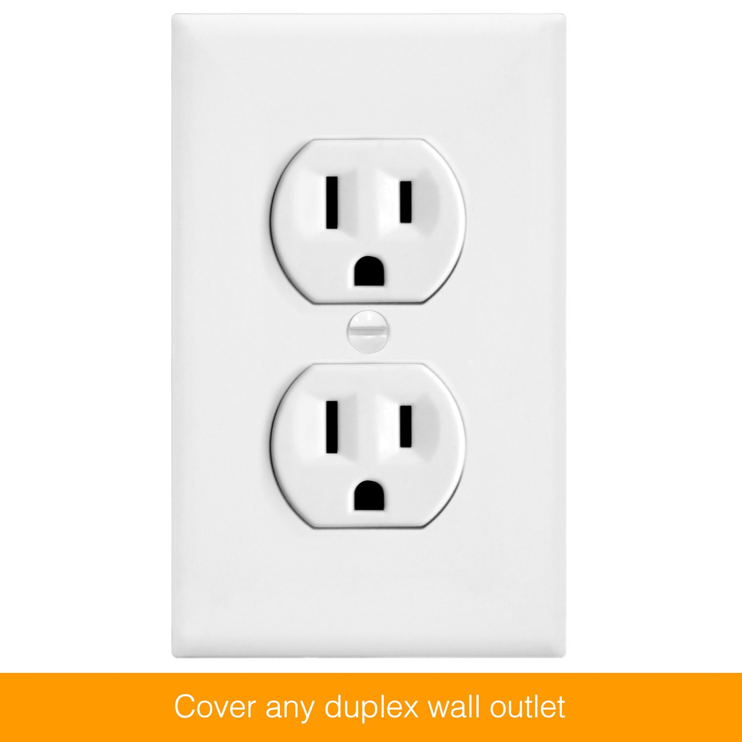 ENERLITES Duplex Receptacle Outlet Wall Plate, Size 1-Gang 4.50'' x 2.76'', Polycarbonate Thermoplastic, 8821-W-10PCS, White (10 Pack) by ENERLITES (Image #3)