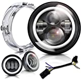 Amazon Com Motorcycle Led Bulb Headlight H4 Harley Road