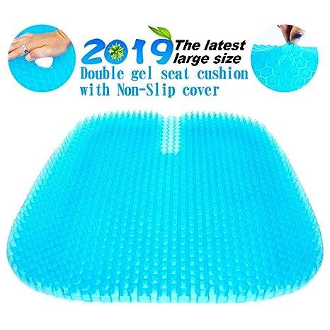 Amazon.com: Cojín de gel para asiento, tamaño grande, diseño ...