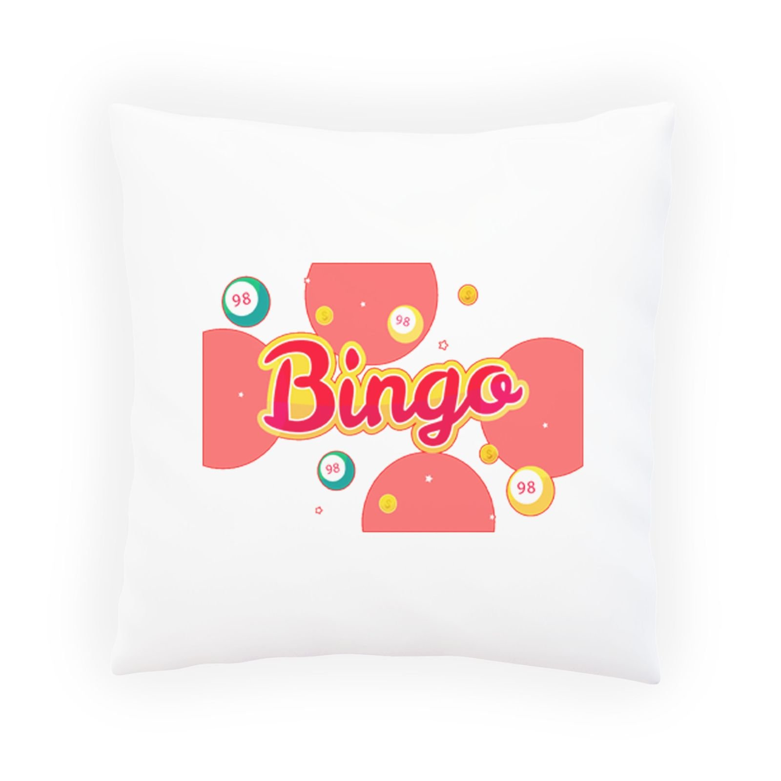 Bingo Lottery Game Decorative Pillow , Cushion cover with Insert or Without r248p by INNOGLEN