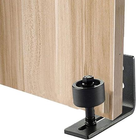 CAVIVI Guía de piso para puerta de granero, montado en la pared, guías de rodillo para puerta de granero, rueda guía inferior con rodamiento de bolas para puertas correderas y rodamientos.: Amazon.es: