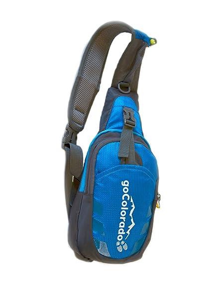 5b8fa26a2b3f goCOLORADO Sling Backpack Bag Crossbody Shoulder Bag Hiking Daypack for  Women Men Kids (Blue)