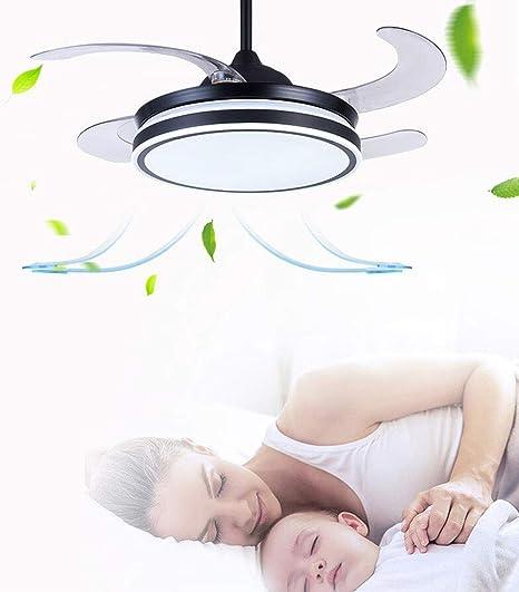 Ventilador Luz Con De Techo Invisible Abs Viento Una Gran Lámpara gY7vb6fy