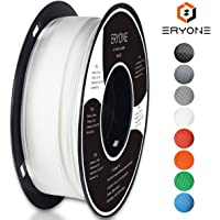 PLA Filament 1.75mm, ERYONE Filament PLA 1.75mm, 3D Printing Filament PLA for 3D printer, 1kg 1 Spool, White