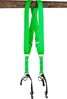 product image for HoldFast Gear Money Maker Vegan 2 Camera Harness (Mint Green, Large)